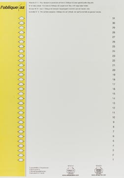 Elba etiketten voor hangmappen voor kasten nr. 9, geel