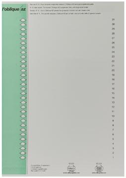 Elba etiketten voor hangmappen voor kasten nr. 9, groen