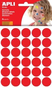 Apli Stickers cirkels rood diameter: 20 mm 192 stuks