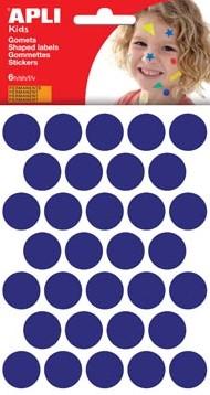 Apli Stickers cirkels blauw diameter: 20 mm 192 stuks
