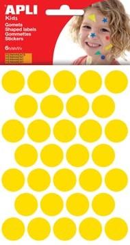 Apli Stickers cirkels geel diameter: 20 mm 192 stuks
