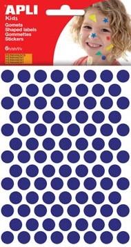 Apli Stickers cirkels blauw diameter: 10,5 mm 588 stuks