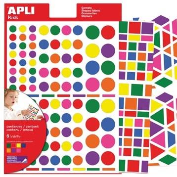 Apli verwijderbare stickers verschillende vormen 664x