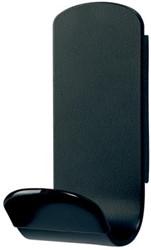 Unilux muurkapstok Steely, magnetisch, 1 haak, zwart