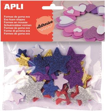 Apli Kids schuimrubber vormen sterren 50 stuks