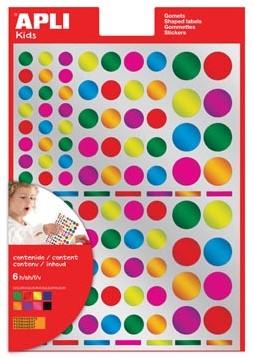 Apli Stickers cirkels 624 stuks