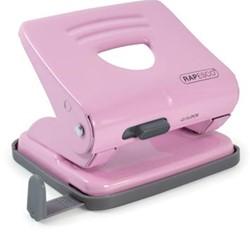 Rapesco metalen 2-gaatsperforator 825 roze, op blister