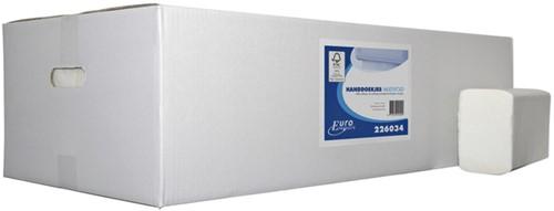 Handdoek Euro M-vouw 2L 32x21cm 3000st