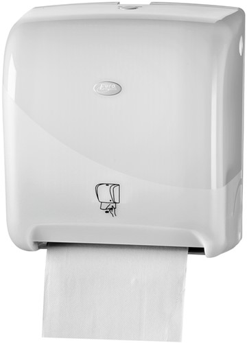 Dispenser Euro Pearl handdoekrol matic wit