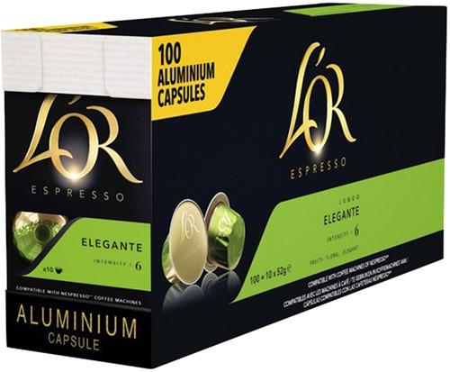 Koffiecups L'Or Lungo Elegante 100 stuks