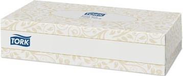 Tissues 2-laags  voor gezicht 100 tissues per doosje Tork