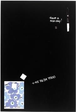 Magnetisch glasbord Naga zwart 40 x 60cm