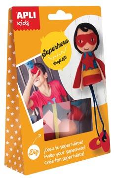 Apli Kids craft kit op blister, superheld