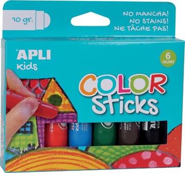 Apli Kids gouache sticks, blister de 6 pièces