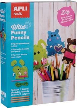 Apli Kids kit funny pencils vilt II
