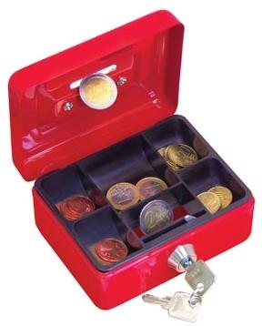 Wedo Geldkoffer 12,5 x 9,5 x 6,3 cm geassorteerde kleuren