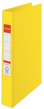A4 map met 4 ringen kleur geel Esselte
