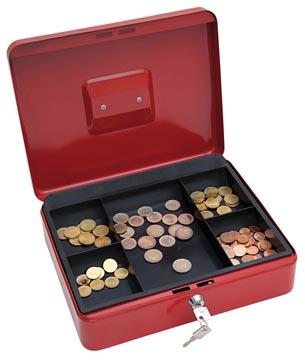 Wedo Geldkoffer 30 x 24 x 9 cm rood