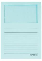 Class'ex insteekmap karton met venster pastel blauw 100 stuks