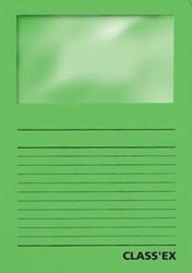 Class'ex insteekmap karton met venster intens groen 100 stuks