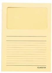 Class'ex insteekmap karton met venster pastel geel