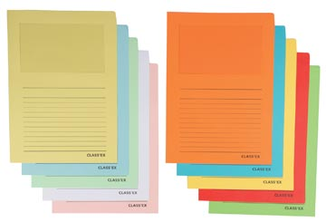 Class'ex insteekmap karton met venster geassorteerde intense en pastel kleuren