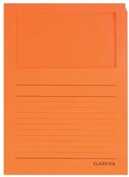 Class'ex insteekmap karton met venster intens oranje 100 stuks