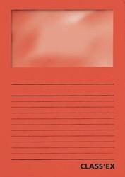 Class'ex insteekmap karton met venster intens rood 100 stuks