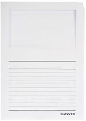 Class'ex insteekmap karton met venster wit 100 stuks