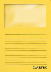 Class'ex insteekmap karton met venster intens geel 100 stuks