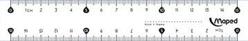 Maped liniaal Essentials 146 15 cm, dubbele graduatie
