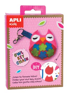 Apli Kids mini kit vilt sleutelhanger, uil