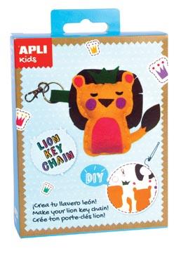 Apli Kids mini kit vilt sleutelhanger, leeuw