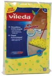 Vileda dweil uit 30% microvezel, geel, pak met 2 stuks