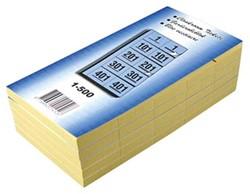 Garderobeblokken nummers van 1 t/m 500 blauw