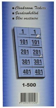 Garderobeblokken nummers van 1 t/m 500 geel