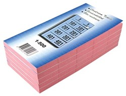 Garderobeblokken nummers van 1 t/m 500 kers