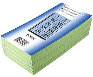 Garderobeblokken nummers van 1 t/m 500 groen