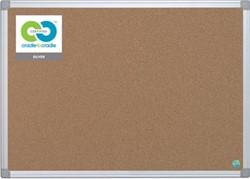 Prikbord kurk met aluminium lijst 150 x 100 cm