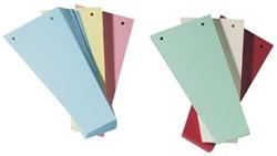 Class'ex trapezium scheidingsstroken geassorteerde kleuren (25 van elke kleur: rood, blauw, groen en geel)