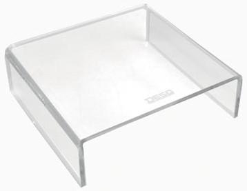 Monitorstandaard transparant vaste hoogte 7cm Desq