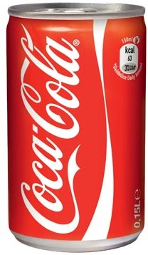 Coca Cola regular blik 15cl pak van 24 stuks