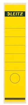 Leitz zelfklevende rugetiketten voor brede ordner lang model geel pk/10
