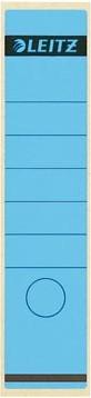 Leitz zelfklevende rugetiketten voor brede ordner lang model blauw pk/10