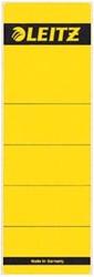 Leitz zelfklevende rugetiketten voor brede ordner kort model geel pk/10