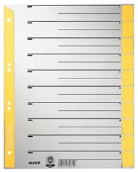 Leitz kartonnen staffeltabblad, ft A4, geel, pak van 100 stuks