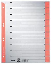Leitz kartonnen staffeltabbladen, ft A4, rood, pak van 10 0