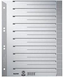 Kartonnen tabbladen A4 grijs 1-6 genummerd