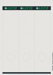 Leitz zelfklevende printbare rugetiketten voor brede ordner lang model wit pk/75