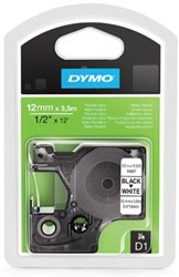 Dymo D1 tape 16957 12mm zwart op wit Nylon